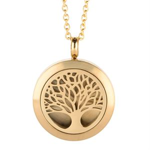 Picture of Tree Of Life Essential Oil Locket Gold